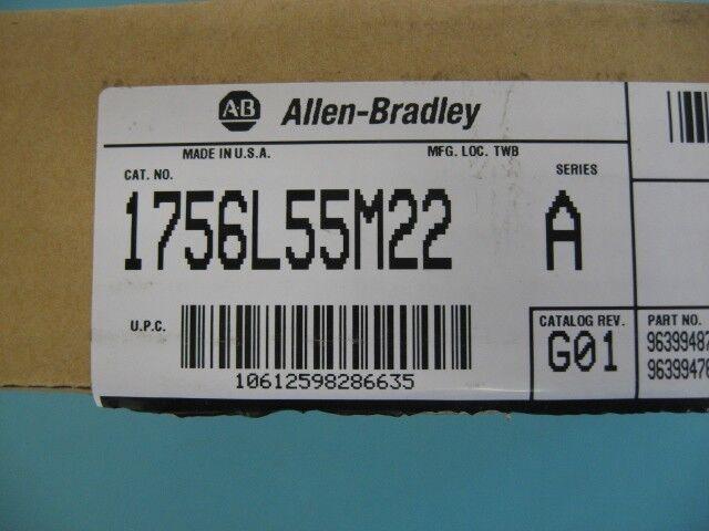 Allen-Bradley Control Logix5555 Processor, Cat No. 1756L55M22 1756-L55 1756-M22