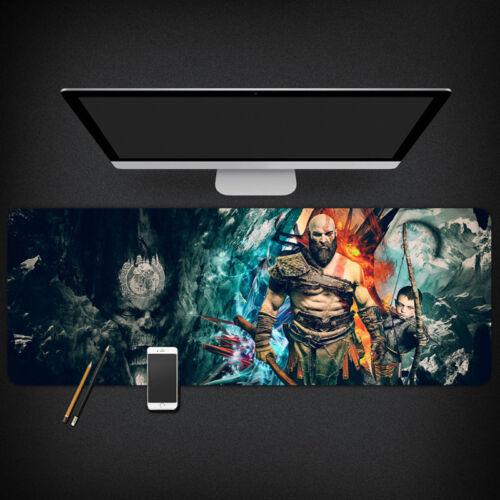 GOD OF WAR 4 Kratos Atreus Mouse Pad 80*30CM Large Desktop Keyboard Laptop Mat