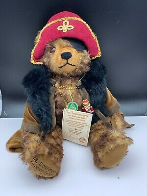 Hermann Teddy Orso Mr Drosselmeyer 45 Cm. Disponibilità Limitata. Mattoncini.-mostra Il Titolo Originale