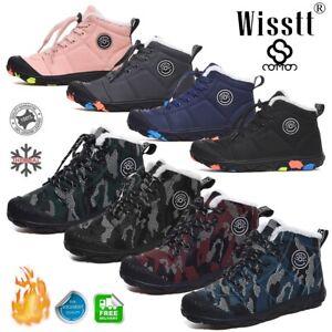 Kids-Ankle-Snow-Boots-Boys-Girls-Winter-Warm-Fur-Lined-Waterproof-Sneakers-Sizes