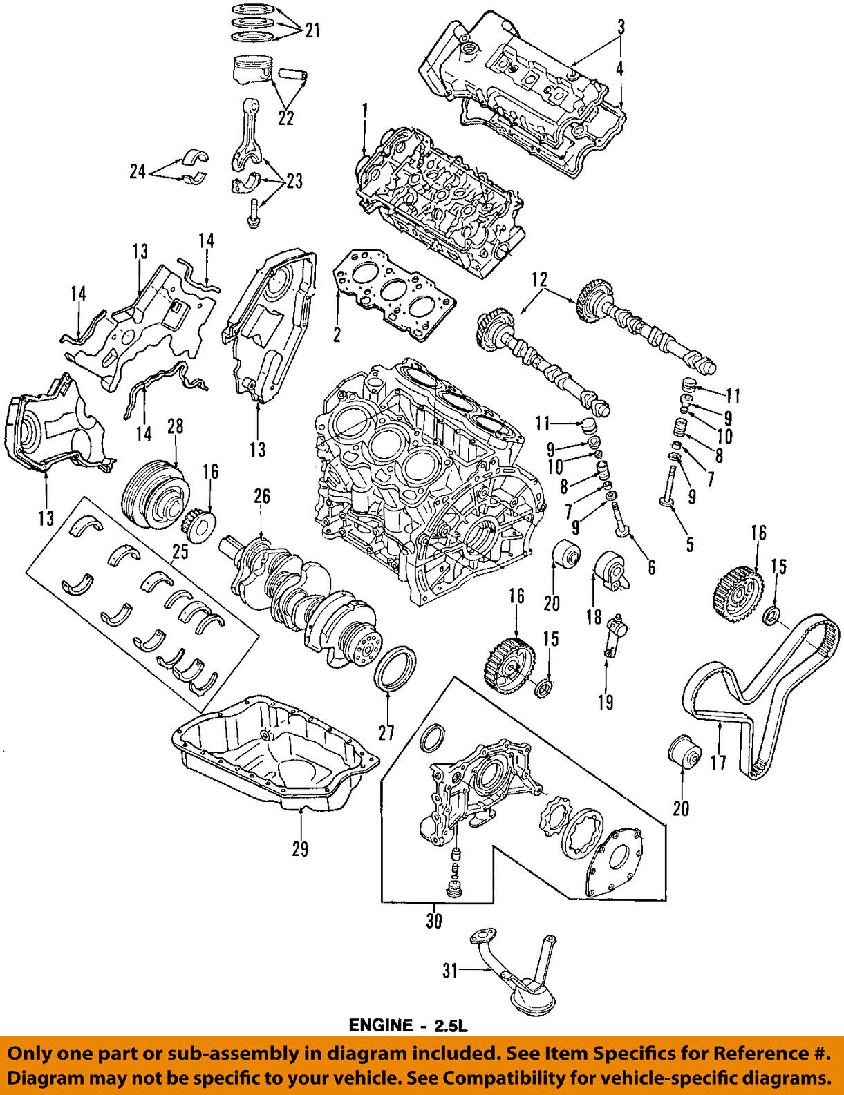 Ford Oem 95 97 Probe Engine Crankshaft Crank Main Bearing F52z6333aa 2 5l Diagram Norton Secured Powered By Verisign