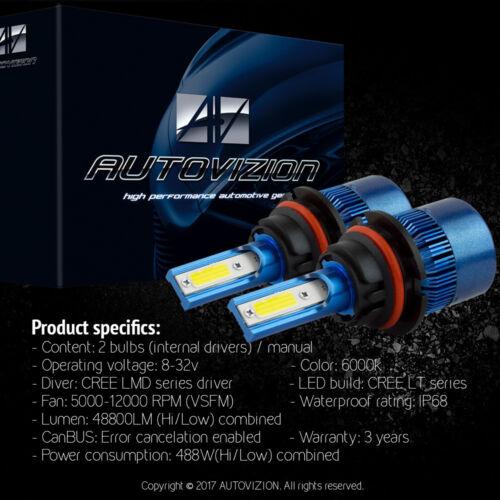 AUTOVIZION LED HID Headlight  kit 9007 HB5 6000K 1995-2002 Pontiac Sunfire