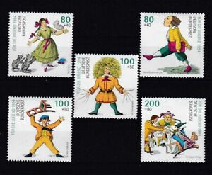 Bund 1726/30 postfrisch, Jugend 1994, Struwwelpeter