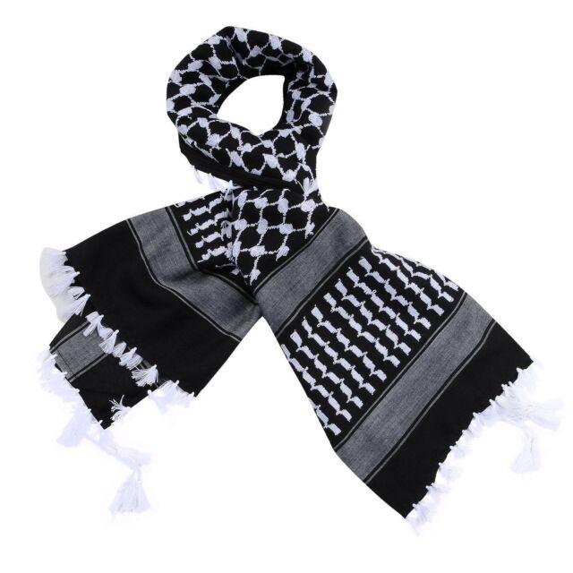 Ladies Men Arafat Keffiyeh Shemagh Head Neck Scarf Wrap Shawl Throw Warm*Arab
