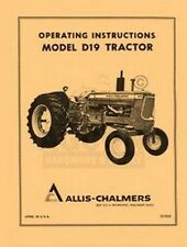 allis chalmers d 19 d19 tractor operators manual ebay rh ebay com Allis Chalmers Service Manual Online D17 Allis Chalmers Operator Manual
