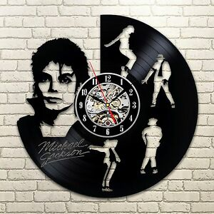 Michael Jackson_Exclus<wbr/>ive wall clock made of vinyl record_GIFT