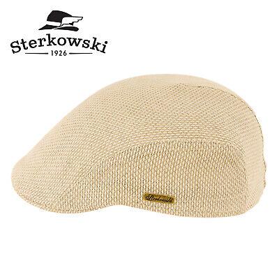 Sterkowski GECKO Linen Summer Flat Cap Light Breathable Ivy League Newsboy
