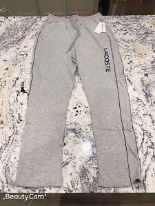 Lacoste-Men-039-s-Lounge-Sleepwear-Pants-Joggers-Size-M-Grey