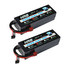 2×HRB Lipo Battery 6000mah 3S 11.1V 50C-100C Hard Case for Car Boat Helicopter