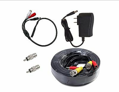 CCTV High Sensitive Microphone Security Camera RCA Audio MicDC Power/&Cable 100ft