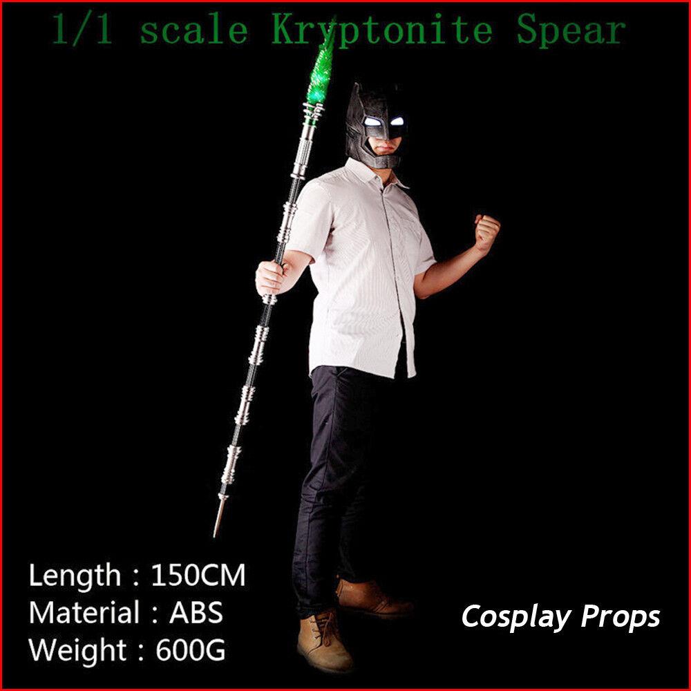 Batman VS Superman Kryptonite Spear Model Led Light Adult Kids Cosplay Props Toy