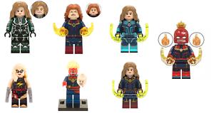 CAPTAIN MARVEL CAROL DANVERS AVENGERS LEGO MOC CUSTOM MINIFIGURE TOYS BRICKS