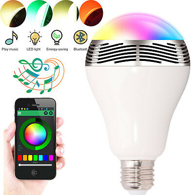 E27 Bluetooth Speaker Color Change Speaker Bulb Light For Android Ios Smartphone