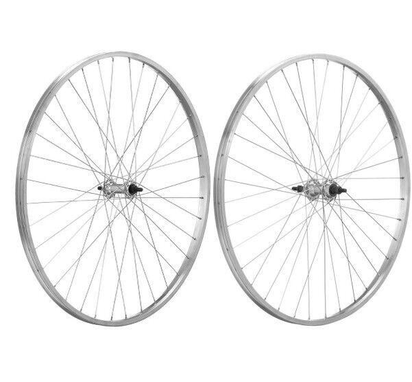Coppia ruote Citybike Alluminio 26 x3 8 Filetto 5 6 6 6 7 8v con perno 6861f3