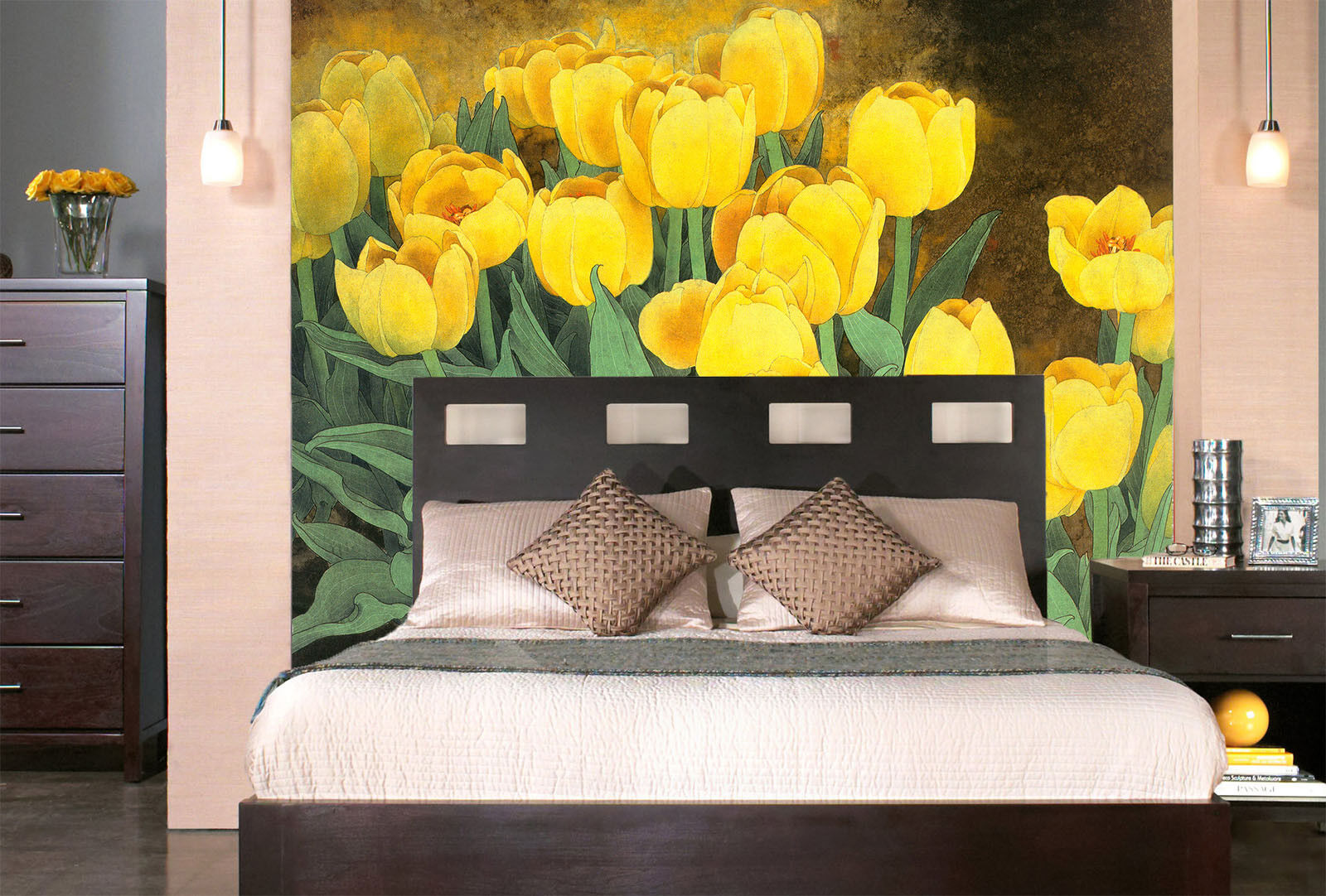 3D Yellow Petal 566 Wallpaper Murals Wall Print Wallpaper Mural AJ WALL UK Lemon