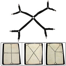 Crisscross Adjustable Bed Fitted Sheet Straps Suspenders Gripper Fastener IN USA