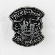 Biker Motorrad Club Brotherhood Skull Totenkopf Pin Anstecker Anstecknadel NEU
