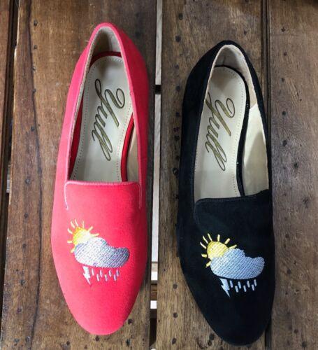 Black Loafer Yull Burlington British Weather VEGAN FRIENDLY Made In England Red