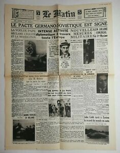 N773-La-Une-Du-Journal-Le-Matin-24-aout-1939-pacte-Germano-sovietique