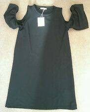 40% DISCOUNT! NEW: Women's ZARA Frill Open Sleeved Black Dress Size Small