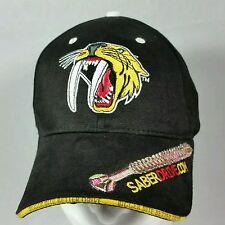 Men's Saberdrive Screw Black Carpenters Saber Toothed Tiger Cat Baseball Hat Cap