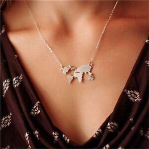 Halskette-Kette-Weltkarte-Globus-Welt-Symbol-Rosegold-Gold-Silber-Boho