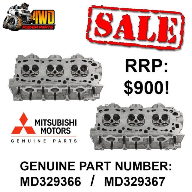 Mitsubishi 6G-74 V6 SOHC Genuine Bare Cylinder Heads PAIR - LEFT/RIGHT HAND