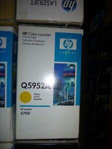 GENUINE 643A HP Q5952A Yellow Toner Cartridge LaserJet 4700 NEW OEM