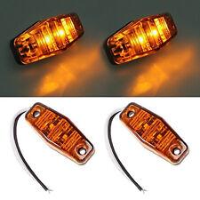 Fish Shape Amber LED Side Marker Lamp Running light Turn signals Amber Cover