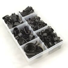Nylon Plastique Noir P Attaches pour fil, Câble, Conduit. Assorti Box 200 Pièces