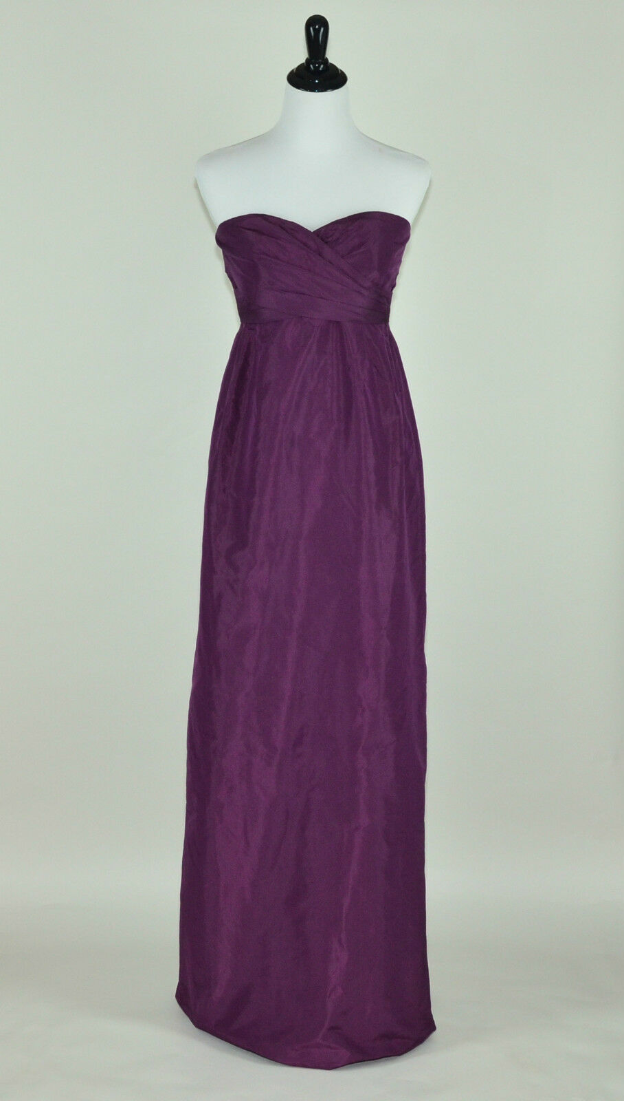 J CREW COLLECTION  SILK TAFFETA ARABELLE GOWN 4 SPICED WINE LONG DRESS PROM