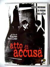 Dvd Atto di accusa con Marcello Mastroianni 1950 Nuovo fuori catalogo
