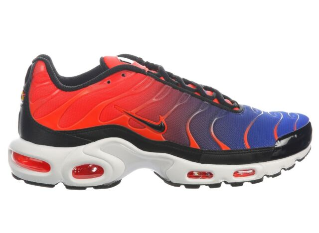 size 40 95f8f 56cb9 Nike Air Max Plus Mens 852630-800 Crimson Black Blue Running Shoes Size 10  for sale online   eBay