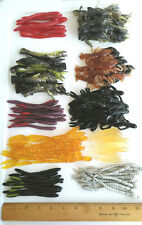 100pc ASSORTMENT of BASS FISHING WORMS Lures Soft Plastic Baits Assorted Styles