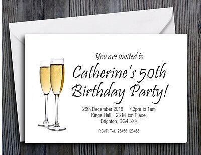 50 Inviti Personalizzati Magnetico 18th 21st 30th 40th 50th 60th Party Invita-