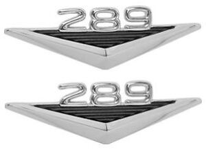64 65 66 FORD MUSTANG GT COUPE FASTBACK CONVERTIBLE 289 FENDER EMBLEMS PAIR NEW