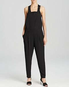 XL-NWT-EILEEN-FISHER-BLACK-SILK-GEORGETTE-UTILITY-JUMPSUIT-THE-FISHER-PROJECT