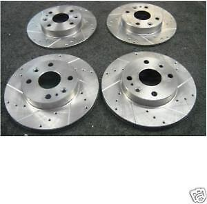 FRONT DRILLED /& GROOVED BRAKE DISCS AND MINTEX PADS FOR MAZDA MX5 1.6 1990-1998