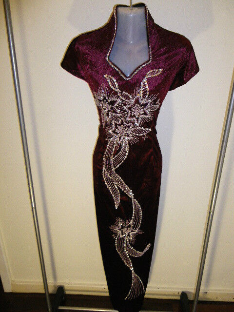 SALE! Plus Size 24 (D9-MR) New Dinner Dress Long Dress Party Gown with Sequins