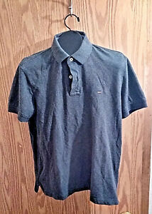 b9ad46f8 Image is loading Tommy-Hilfiger-Mens-M-Gray-Collared-Long-Sleeve-