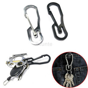 Stainless Steel Climbing Carabiner Key Chain Clip Hook Buckle Keychain Key Ring