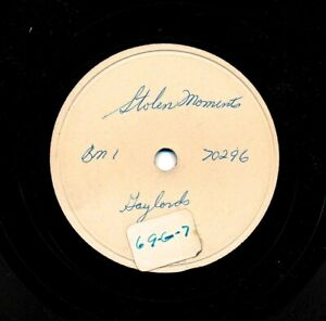 The-GAYLORDS-on-1954-Mercury-70296-Test-Pressing-Stolen-Moments