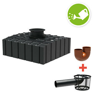 regenwasser flachtank zisterne garten 4150 l inkl abdeckung filter zubeh r ebay. Black Bedroom Furniture Sets. Home Design Ideas