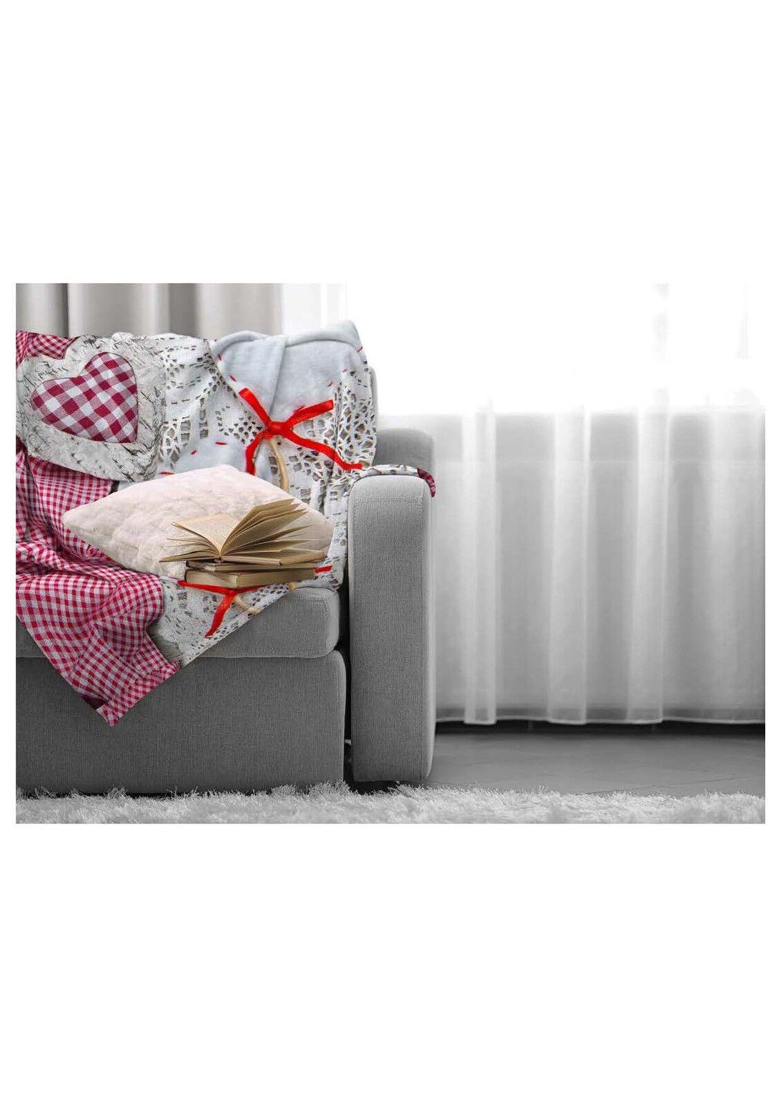Poliestere Bianco//beige 150 x 200 cm Brand sseller flanella coperta con cuore stampato 150/x 200/cm