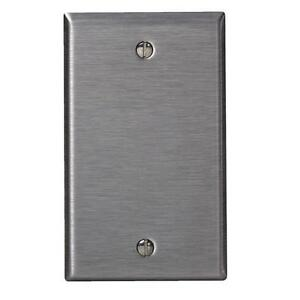 Details About 100 Pk Leviton Stainless Steel 1 Gang Blank Wall Plate Switch Cover 003 84014