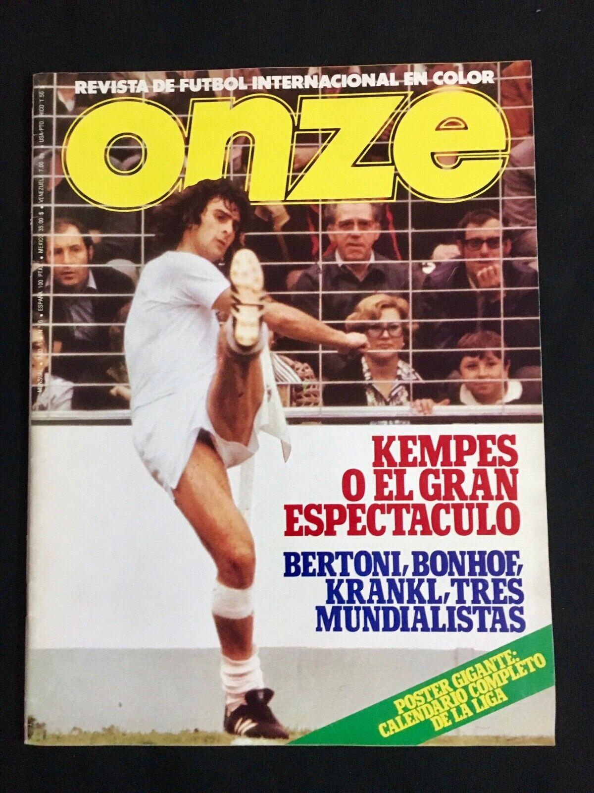 REVISTA ONZE Nº6 plataINA-AUSTRIA-ITALIA-HOLANDA-ALEMANIA-BRASIL-COSMOS 1978