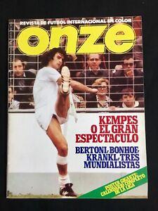 REVISTA-ONZE-N-6-ARGENTINA-AUSTRIA-ITALIA-HOLANDA-ALEMANIA-BRASIL-COSMOS-1978