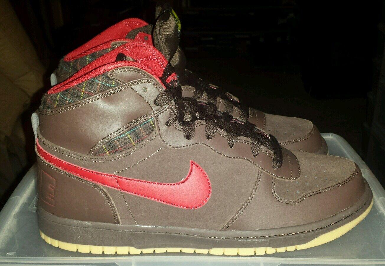 New! Nike Mens Big Nike brown High Shoes-336608-200 size 9.5 brown Nike colorway gum soles fb4f17