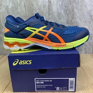 Relativo excepción Economía  Asics Gel Kayano 26 Size 8.5 Mens Mako Blue Sour Yuzu Running Shoes | eBay