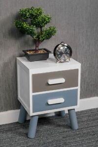 2-DRAWER-WHITE-BEDSIDE-SIDE-END-TABLE-SCANDINAVIAN-RETRO-BEDROOM-UNIT-CABINET